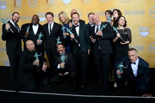 """""""Breaking Bad"""" venceu o prêmio de melhor elenco em série dramática"""