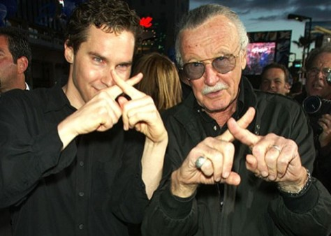 Singer ao lado de Stan Lee, o criador dos X-Men