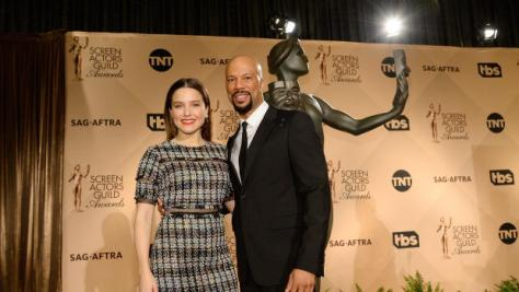 WEST HOLLYWOOD, CA - DECEMBER 14: Sophia Bush and Common attend the 23rd annual SAG Awards nominations announcement at Pacific Design Center on December 14, 2016 in West Hollywood, California. (Photo by Kevork Djansezian/Getty Images)
