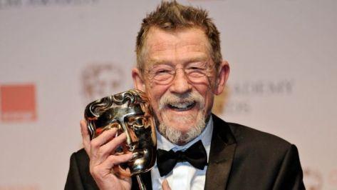 O ator recebendo o BAFTA