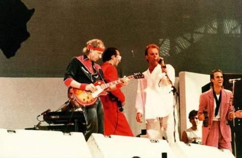 Dire Straits e Sting no Live Aid